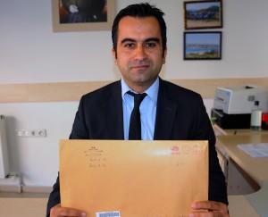 PTT  İlçe Müdürü Ahmet Doğan